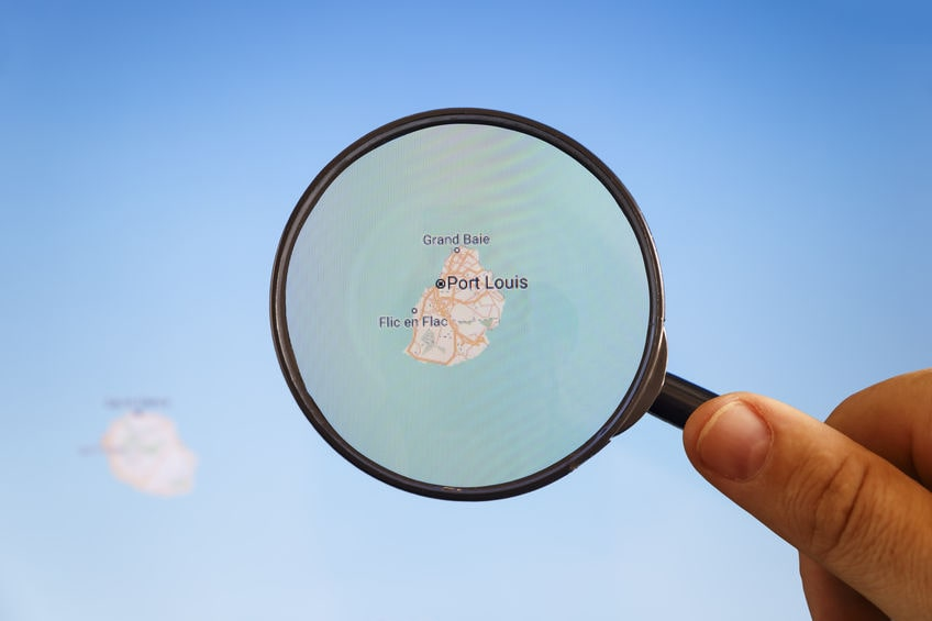 carte du monde île maurice