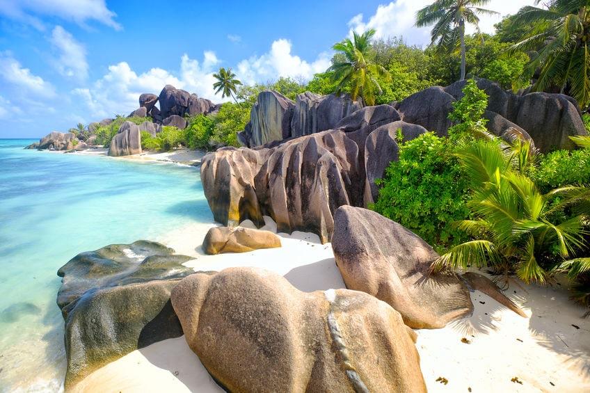 La plage d'Anse Source d'Argent