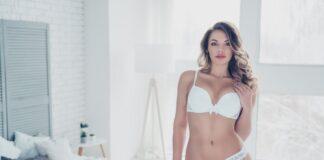 sous-vêtements sexy blanc avec des boucles